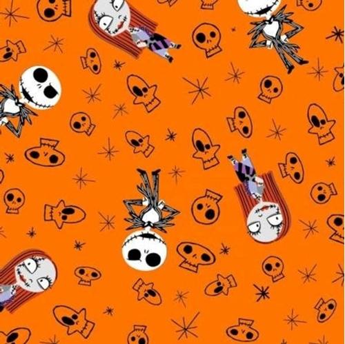 Flannel Nightmare Before Christmas Skulls Halloween Cotton Fabric