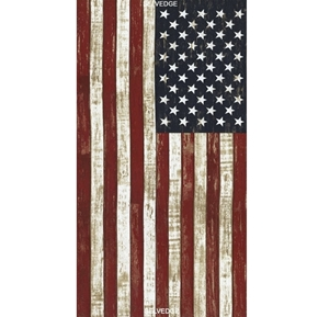 American Pride Collection Rustic Flag 24x44 Cotton Fabric Panel