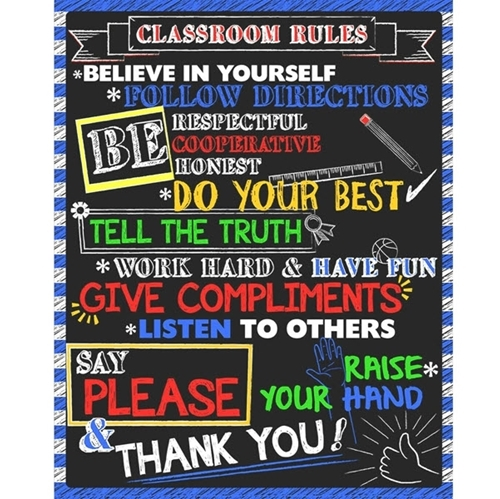 Classroom Rules Do Your Best Be Respectful School Cotton Fabric Panel