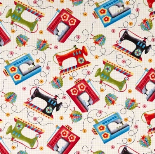 Picture of One Stitch at a Time Sewing Machine Pin Cushion Notions Cotton Fabric