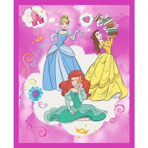 Disney Princesses One of a Kind Ariel Belle Cinderella Fabric Panel
