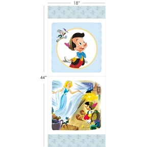 Disney Pinocchio 17 1/2 x 44 Cotton Fabric Pillow Panel Set