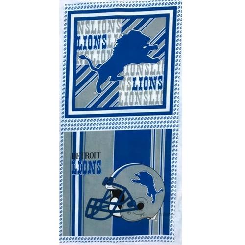 NFL Football Detroit Lions 17x36 OOP Cotton Fabric Pillow Panel Set