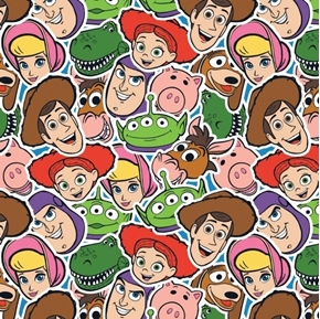 Disney Toy Story 4 Toy Group Buzz Bo Peep Hamm Slinky Cotton Fabric