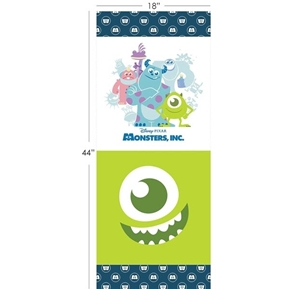 Disney Monsters Inc Pixar 18x44 Cotton Fabric Pillow Panel Set