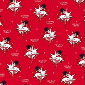 Kick Heart Disease Superlady American Heart Association Cotton Fabric