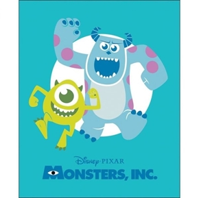 Disney Monsters Inc Pixar Movie Large Cotton Fabric Panel