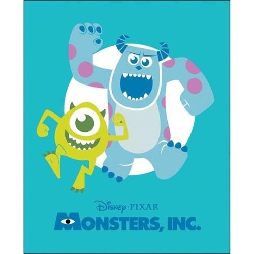 Disney Monsters Inc Pixar Movie Large Cotton Fabric Panel