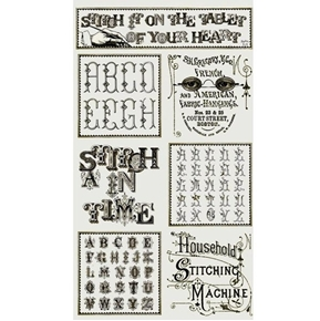 Letter Stitch Patch Alphabet J Wecker Frisch 24x44 Cotton Fabric Panel