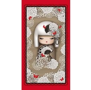 Kimmidoll Yoriko Dependable Asian Doll 24x44 Large Cotton Fabric Panel