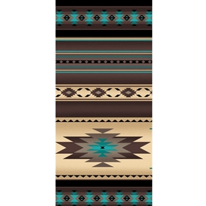 Tucson Southwest Aztec Native American Sepia Stripe Cotton Fabric