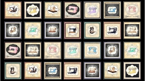 Tailor Made Small Sewing Machine Picture Patch 24x44 Cotton Panel