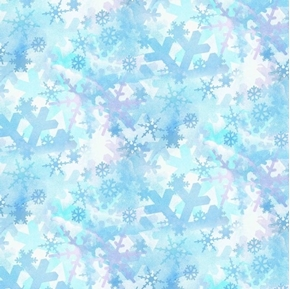 Blues Snowflakes Winter Blue Snow Kate Ward Thacker Cotton Fabric