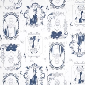 Picture of Disney Villains Frames Cruella Ursula Maleficent Blue Cotton Fabric