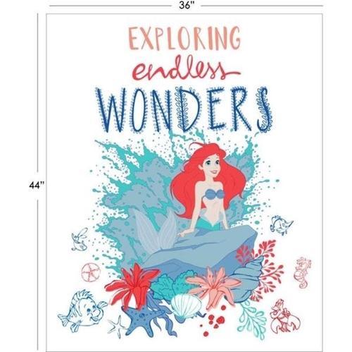 Disney Ariel Exploring Endless Wonders Mermaid Cotton Fabric Panel