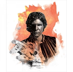 Picture of Star Wars Hans Solo Harrison Ford Large Cotton Fabric Panel