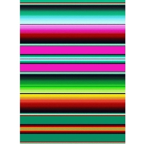 Picture of Fiesta Fuschia Southwest Mexican Blanket Stripe Cotton Fabric