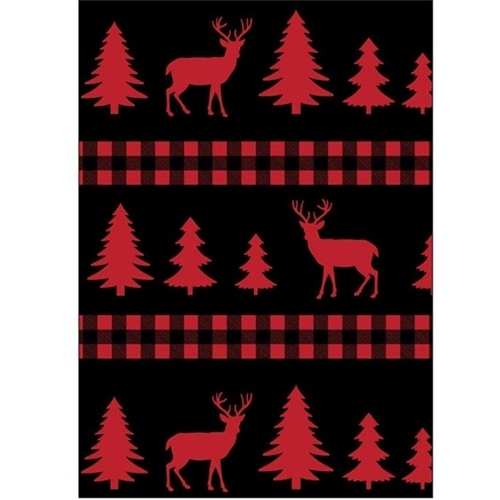 Christmas Holiday Deer Plaid Red Tree and Deer Stripe Cotton Fabric