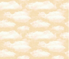Faith White Puffy Clouds on a Cream Sky Cotton Fabric