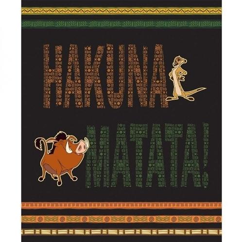 Disney Hakuna Matata Lion King Pumba Timba Large Cotton Fabric Panel
