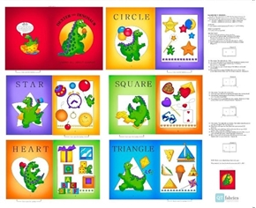 Picture of Dexter the Dinosaur Learns About Shapes Cotton Fabric Book Craft