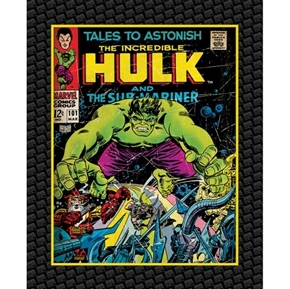 Marvel Comics Hulk Comic Book Cover Large Cotton Fabric Panel