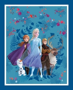 Picture of Disney Frozen 2 Friends Forever Movie Cotton Fabric Panel
