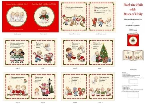 Deck the Halls Christmas Choir Holiday Cotton Fabric Book Craft