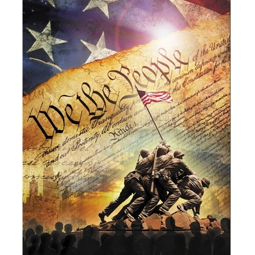 Picture of Constitution We The People American Digital Large Cotton Fabric Panel