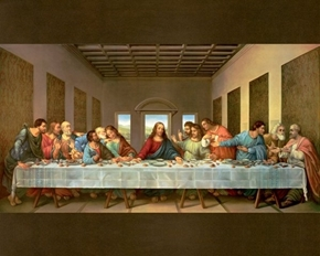 Picture of The Last Supper Jesus and the Disciples Digital Cotton Fabric Panel