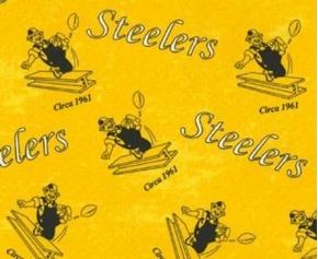NFL Football Pittsburgh Steelers Legacy Circa 1961 Cotton Fabric