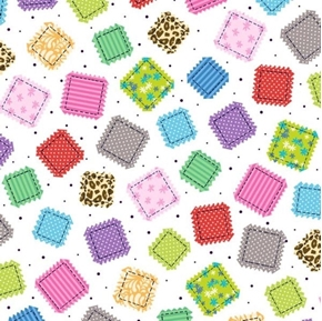 Picture of Crazy for Crafting Fabric Patches Patch White Cotton Fabric