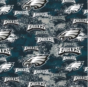NFL Football Philadelphia Eagles Distressed-Look Cotton Fabric