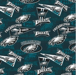 Picture of NFL Football Philadelphia Eagles Retro Cotton Fabric