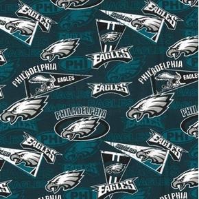 Picture of NFL Football Philadelphia Eagles Retro Cotton Fabric