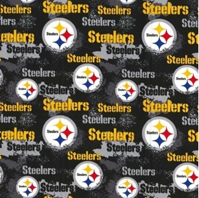Picture of NFL Football Pittsburgh Steelers Distressed-Look Cotton Fabric