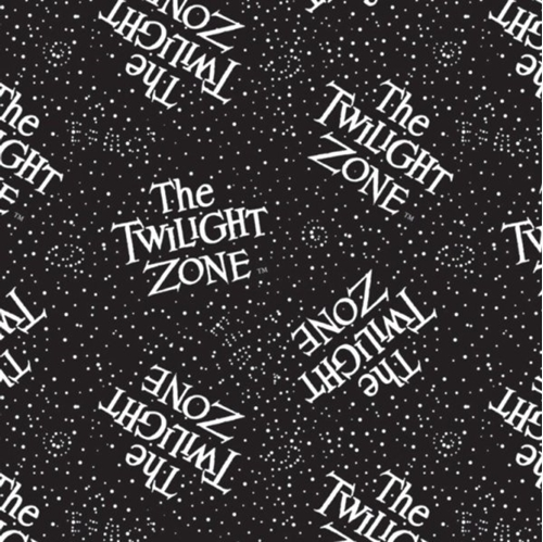 Picture of The Twilight Zone Glow in the Dark Logo CBS Television Cotton Fabric