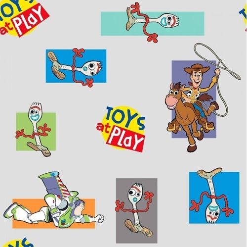 Disney Toy Story 4 Movie Toys at Play With Forky Pixar Cotton Fabric