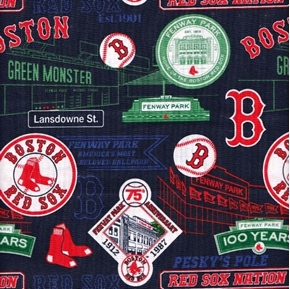 Picture of MLB Baseball Boston Red Sox Stadium History Fenway Park Cotton Fabric