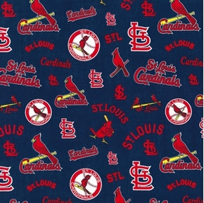 Picture of MLB Baseball Saint Louis Cardinals Cooperstown Cotton Fabric