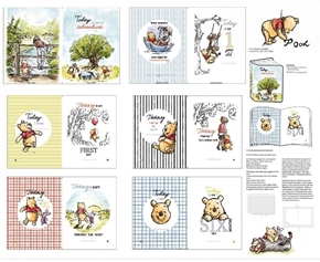Disney Pooh Nursery Pooh Classic Cotton Fabric Book Craft Panel