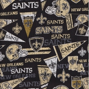 NFL Football New Orleans Saints Retro Cotton Fabric