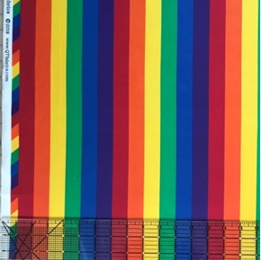 This & That II Rainbow Stripe Narrow One Inch Stripe Cotton Fabrics Cotton Fabric