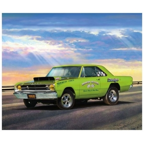 Dodge Dart 1968 Hemi Racing Muscle Car Large Cotton Fabric Panel