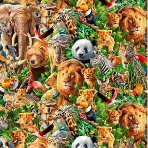 Artworks XIV Packed Animals Magical Animal Menagerie Cotton Fabric