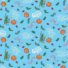 James and the Giant Peach Nicest Creatures Roald Dahl Cotton Fabric