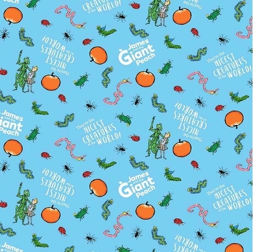 Picture of James and the Giant Peach Nicest Creatures Roald Dahl Cotton Fabric