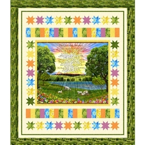 The Lord is My Shepherd Psalm 23:6 Religious 66x77 Quilt Kit