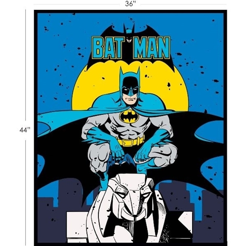 DC Comics II Batman Large Cotton Fabric Panel
