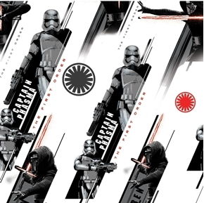 Star Wars Villain Captain Phasma The First Order Cotton Fabric